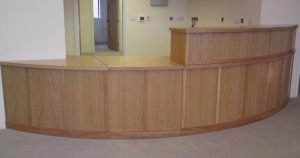 Bespoke Reception Desk with Quality Joinery