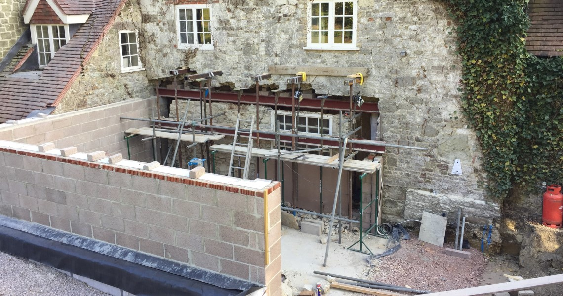 Traditional Orangery Under Construction